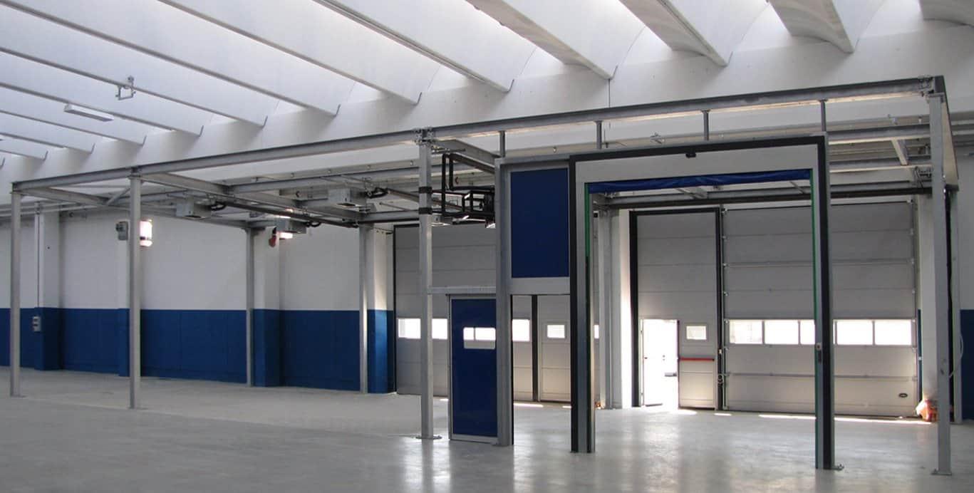 compartimentazione capannone uffici