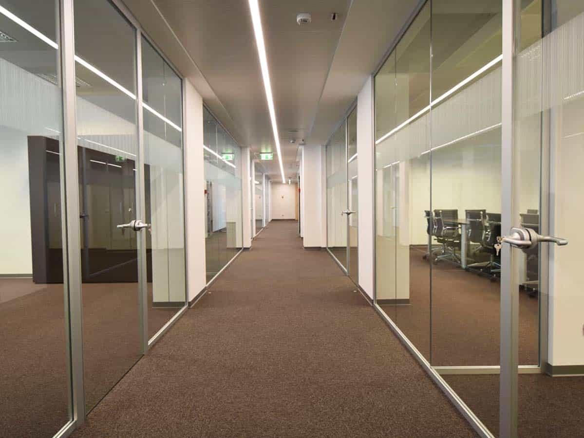 Pareti vetrate per ufficio
