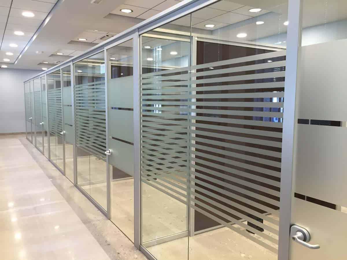Pareti divisorie Milano vetrate ufficio