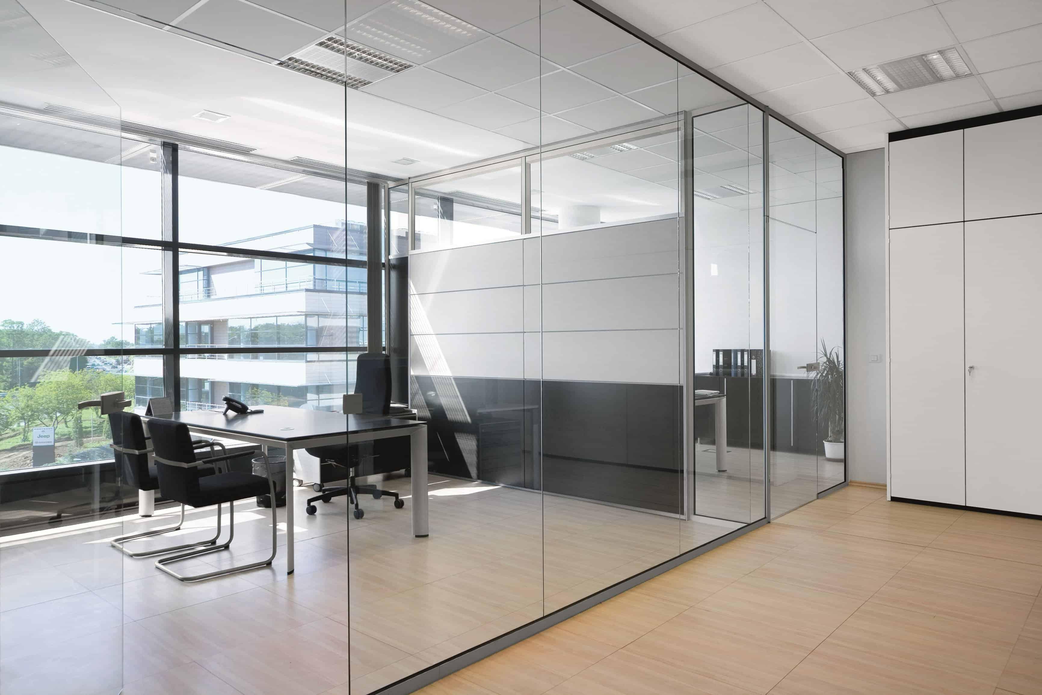pareti vetrate per uffici