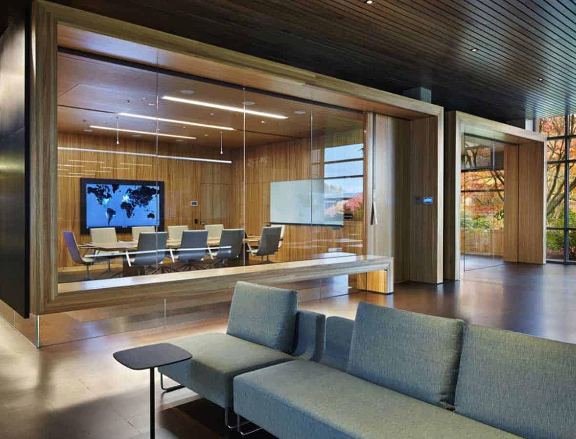 pareti divisorie ufficio legno