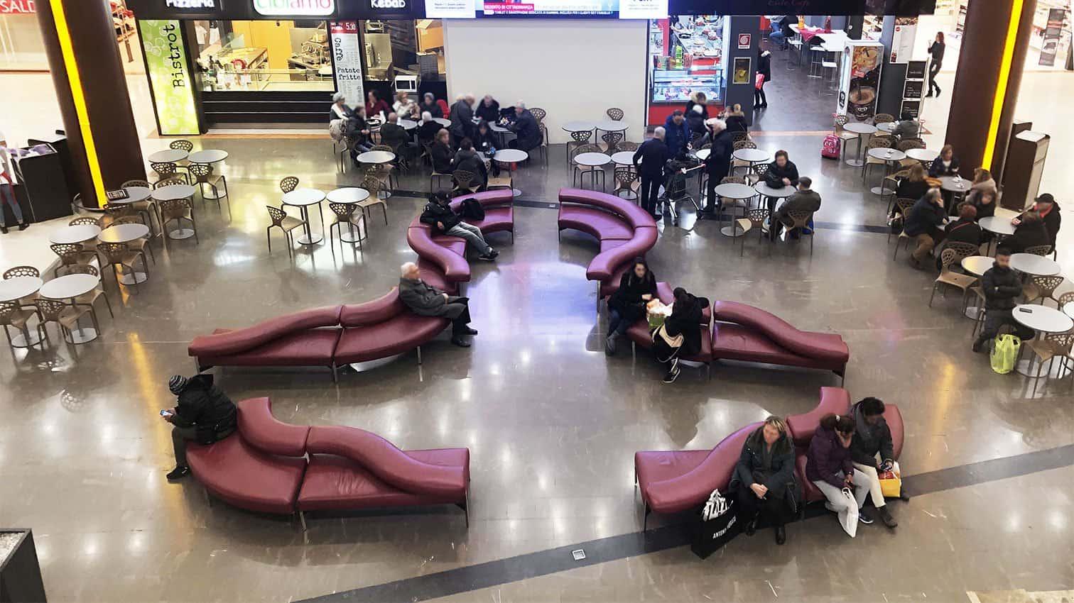 Progetto centro commerciale prima dell'intervento