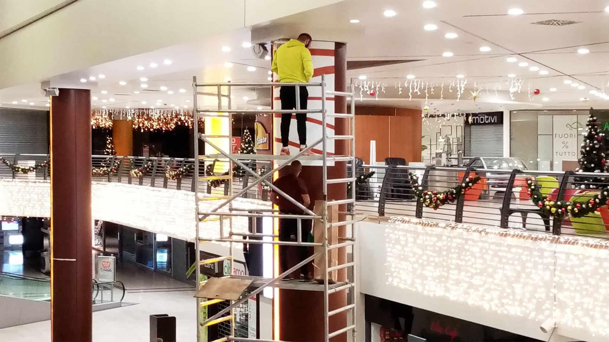 Pellicole adesive Centro commerciale