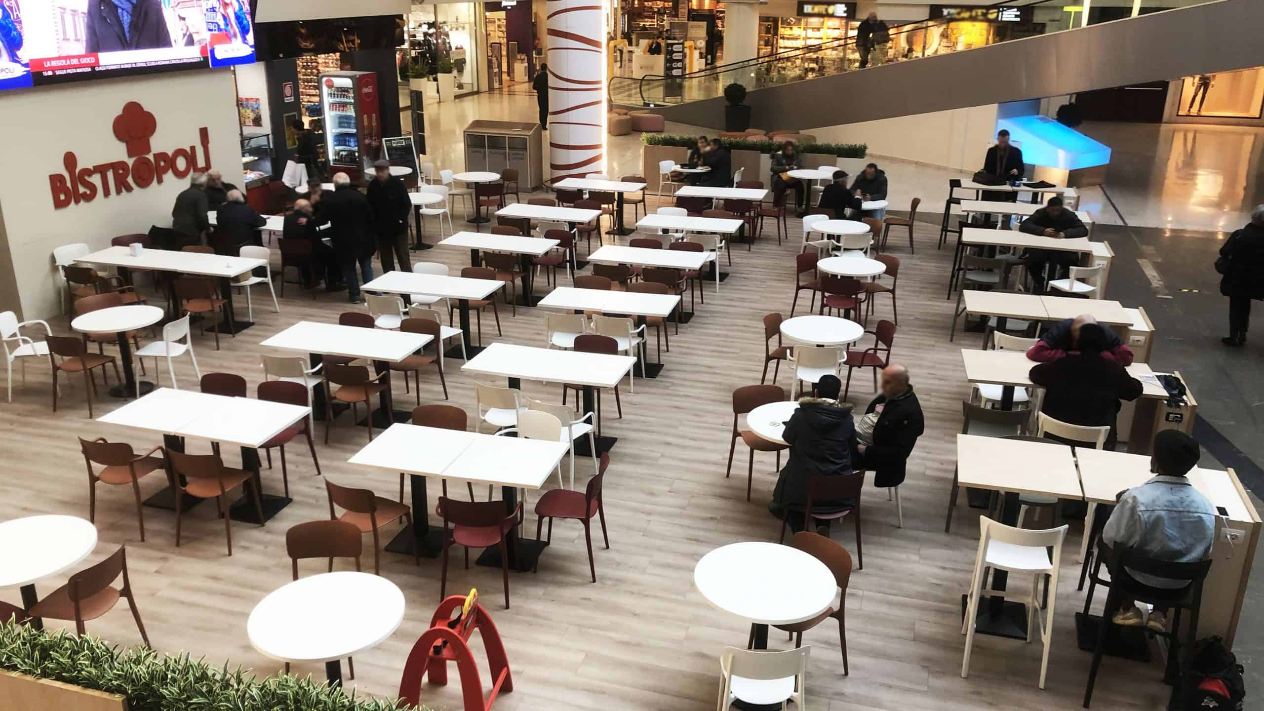 Restyling Area Food Centro commerciale