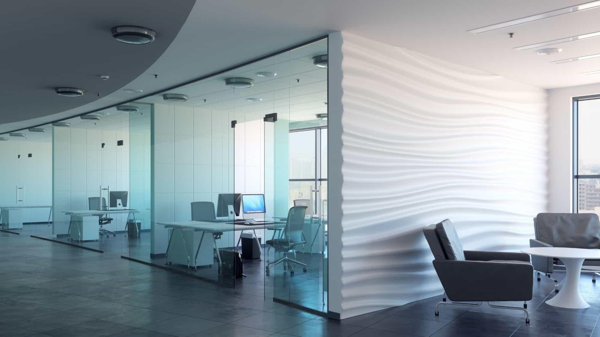 pareti vetrate ufficio